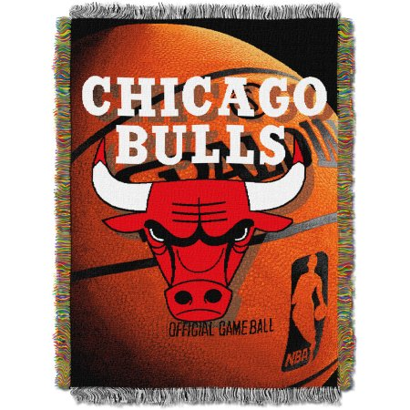 "NBA Chicago Bulls 48""x 60"" Photo Real Series Tapestry Throw Blanket"