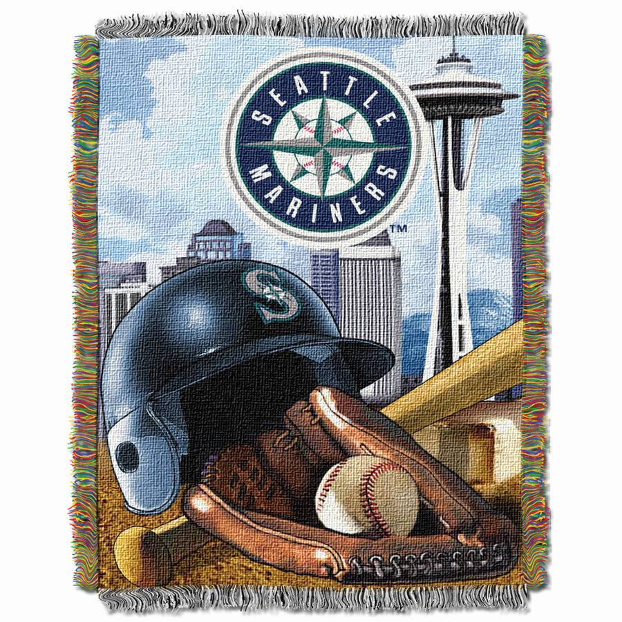 "MLB 48"" x 60"" Home Field Advantage Series Tapestry Throw, Mariners"