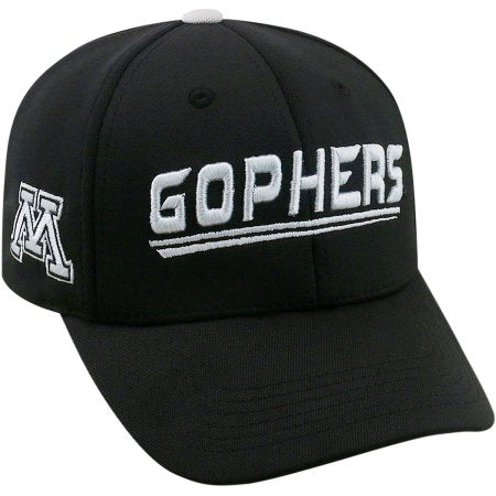 NCAA University of Minnesota Golden Gophers Black Baseball Hat \ Cap