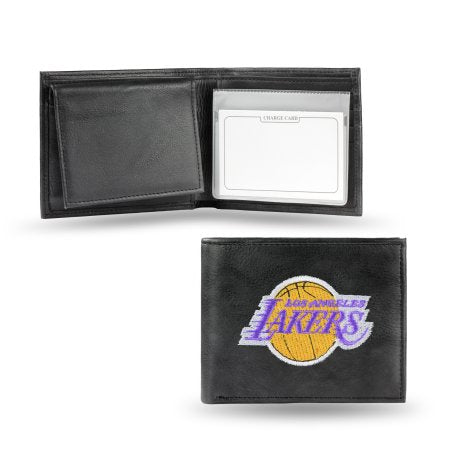 NBA Men's Los Angeles Lakers Embroidered Billfold Wallet