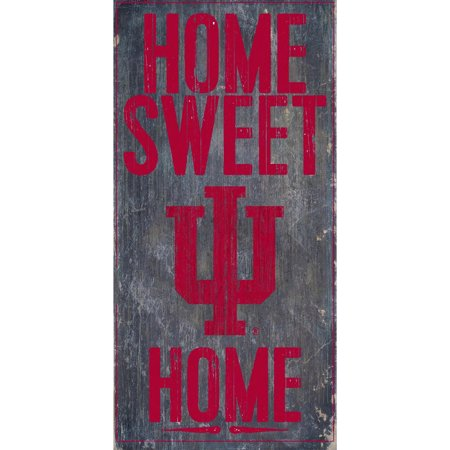 NCAA Indiana Hoosiers 6'' x 12'' Home Sweet Home Sign