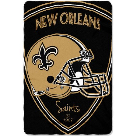 "NFL New Orleans Saints 40"" x 60"" Fleece Throw"