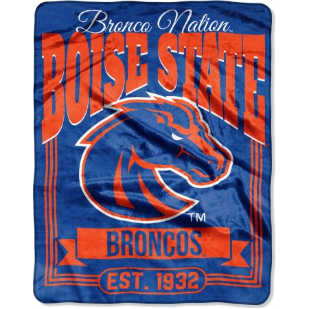 "NCAA Boise State Broncos ""Traction"" 55"" x 70"" Silk Touch Throw"