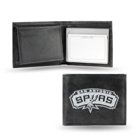 NBA Men's San Antonio Spurs Embroidered Billfold Wallet