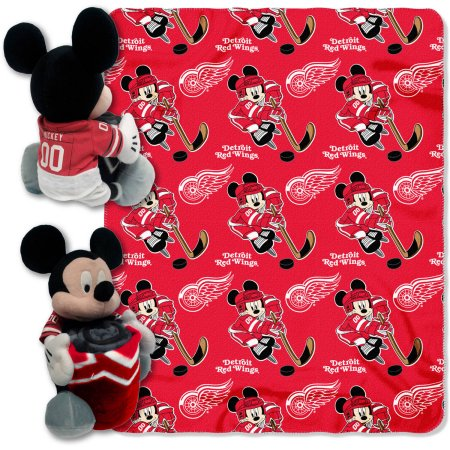 "Disney NHL Detroit Red Wings Ice War Series Hugger Pillow and 40"" x 50"" Throw Set"