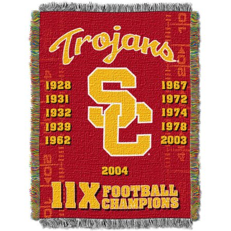 "NCAA 48"" x 60"" Commemorative Series Tapestry Throw, USC"