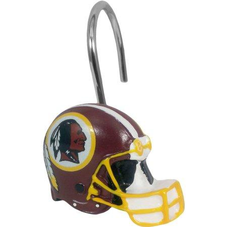 NFL Washington Redskins Shower Curtain Hooks 12 Piece Set