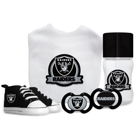 NFL Oakland Raiders 5-Piece Baby Gift Set