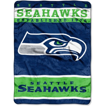 "NFL Seattle Seahawks 60"" x 80"" Raschel Throw"