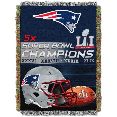 "OFFICIAL National Football League, New England Patriots ""Super Bowl 51 Champions"" Woven Tapestry Throw, 48"" x 60"""