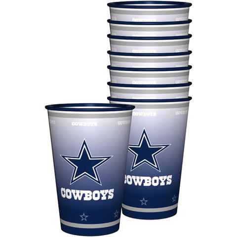 NFL 20 oz Dallas Cowboys Plastic Souvenir Cups, 8pk