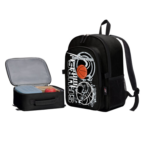 "NBA San Antonio Spurs ""Accelerator"" Backpack and Lunch Bag / Box Set"