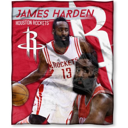 "NBA James Harden 50"" x 60"" Houston Rockets Players High Definition Silk Touch Throw"