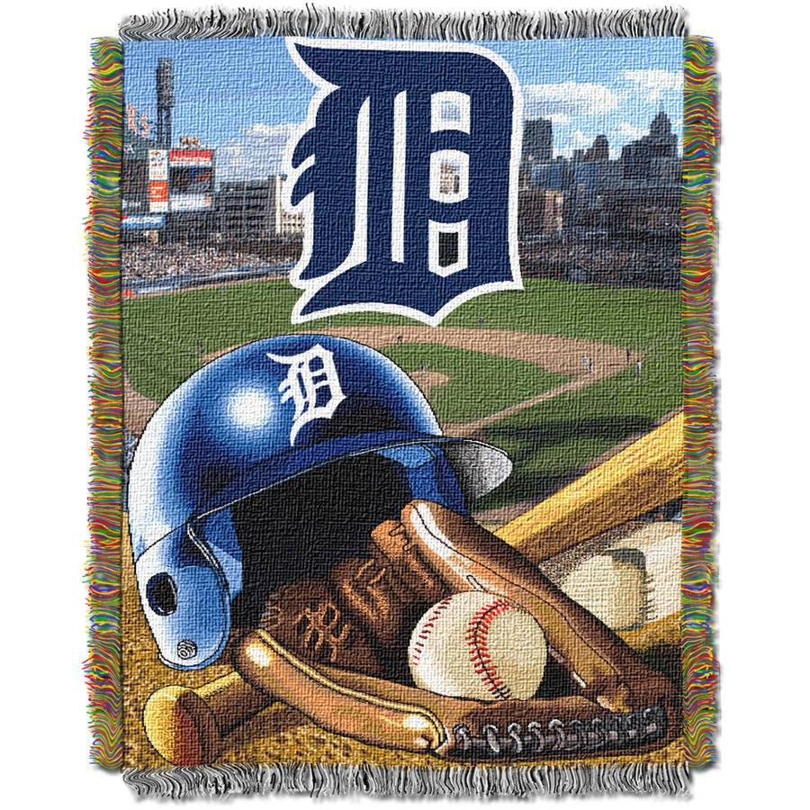 "MLB 48"" x 60"" Home Field Advantage Series Tapestry Throw, Tigers"
