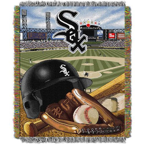 "MLB 48"" x 60"" Home Field Advantage Series Tapestry Throw, White Sox"