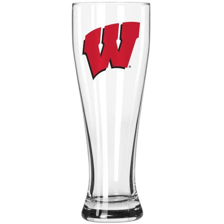 Boelter Brands NCAA University of Wisconsin Badgers 23-Ounce Grand Pilsner with Full Color Team Logo