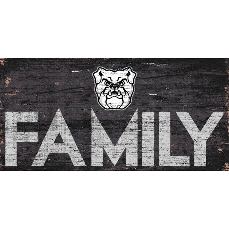 NCAA Butler Bulldogs 6'' x 12'' Distressed Wood Family Sign