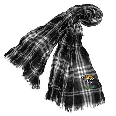 Little Earth - NFL Crinkle Plaid Scarf, Jacksonville Jaguars