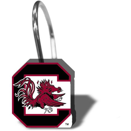 NCAA University of South Carolina Gamecocks Shower Hooks 12-Pack