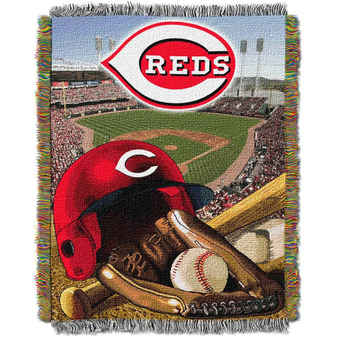 "MLB 48"" x 60"" Home Field Advantage Series Tapestry Throw, Reds"
