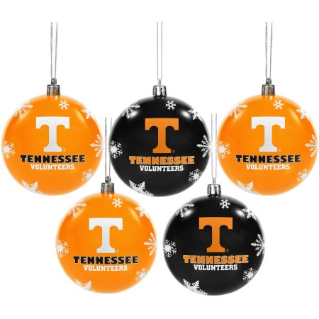 Forever Collectibles NCAA 5-Pack Shatterproof Ball Ornaments - University of Tennessee Volunteers