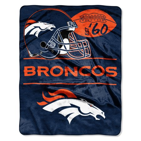 "NFL Denver Broncos ""Conference"" - Silk Touch Throw Blanket, 55"" x 70"""