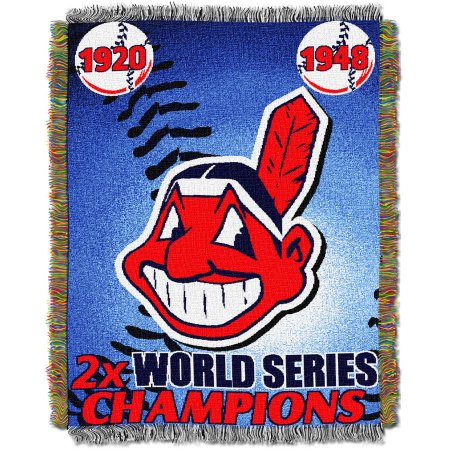 "MLB 48"" x 60"" Commemorative Series Tapestry Throw, Indians"