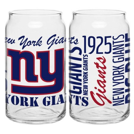 Boelter Brands NFL Set of Two 16 Ounce Spirit Glass Can Set, New York Giants