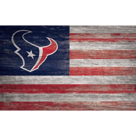 NFL Houston Texans 11'' x 19'' Distressed Flag Sign