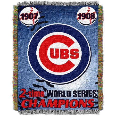 "MLB 48"" x 60"" Commemorative Series Tapestry Throw, Cubs"