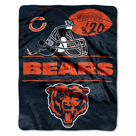 "NFL Chicago Bears ""Conference"" - Silk Touch Throw Blanket, 55"" x 70"""