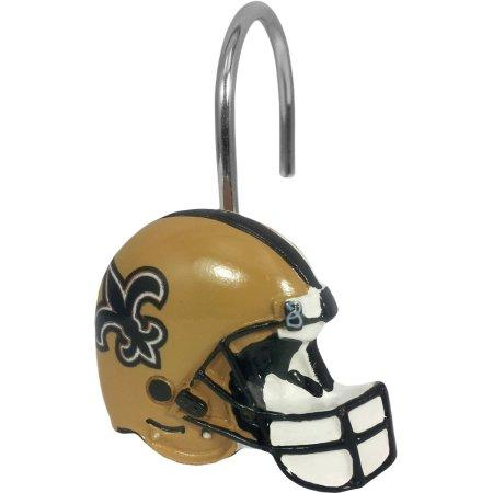 NFL New Orleans Saints Shower Curtain Hooks 12 Piece Set