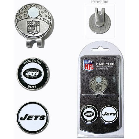 Team Golf NFL New York Jets Cap Clip With 2 Golf Ball Markers
