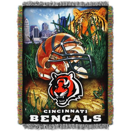 "NFL 48"" x 60"" Tapestry Throw Home Field Advantage Series- Bengals"