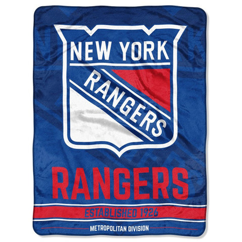 "NHL New York Rangers ""Breakaway"" 46""x 60"" Micro Raschel Throw Blanket"