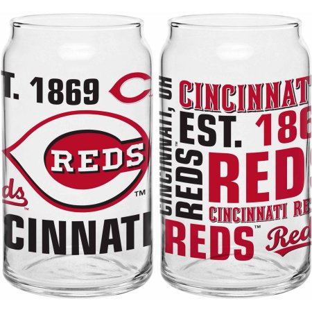 Boelter Brands MLB Cincinnati Reds Set of Two 16 Oz Spirit Glasses