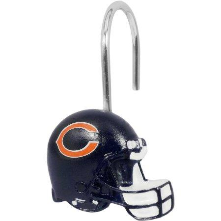 NFL Chicago Bears Shower Curtain Hooks 12 Piece Set