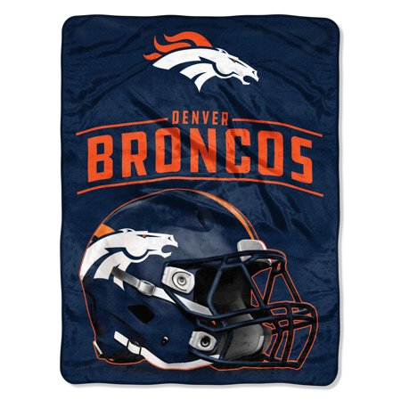 "NFL Denver Broncos ""Franchise"" Micro Raschel Throw Blanket, 46 X 60"