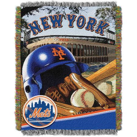 "MLB 48"" x 60"" Home Field Advantage Series Tapestry Throw, Mets"