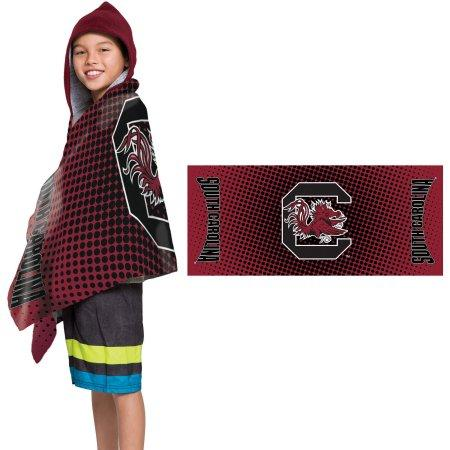 "NCAA South Carolina Gamecocks ""Dots"" Youth Terry Cloth Hooded Wrap Towel"