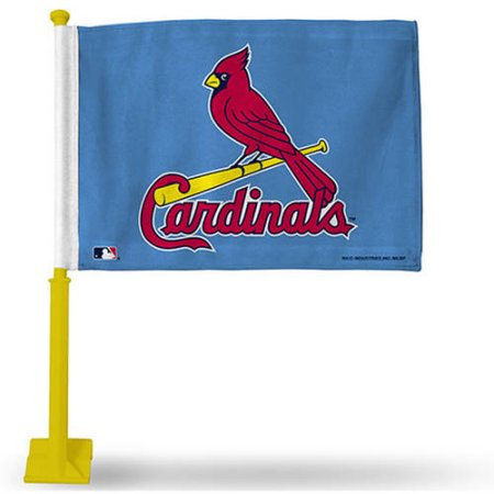 MLB St. Louis Cardinals Car Flag With Colored Pole - Yellow Pole