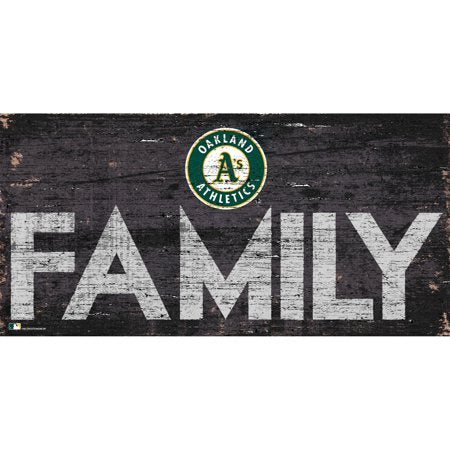 MLB Oakland Athletics 6'' x 12'' Distressed Wood Family Sign