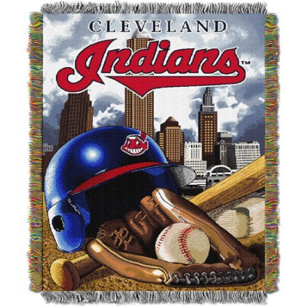 "MLB 48"" x 60"" Home Field Advantage Series Tapestry Throw, Indians"