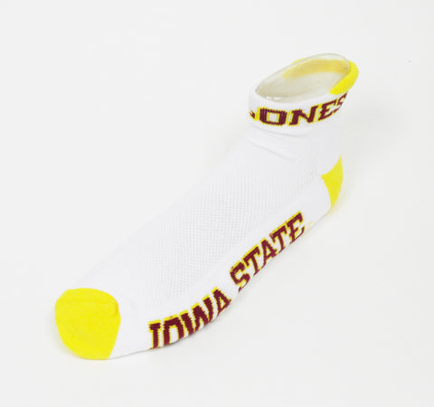 NCAA Iowa State Cyclones Footie, Yellow Heel Toe Socks