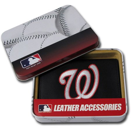 MLB Men's Washington Nationals Embroidered Trifold Wallet
