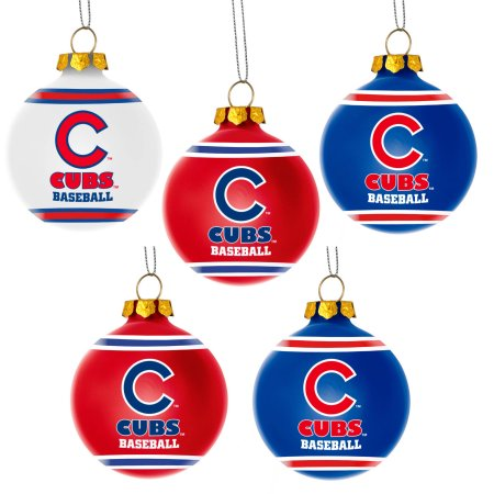 Forever Collectibles MLB 5-Pack Shatterproof Ball Ornaments - Chicago Cubs