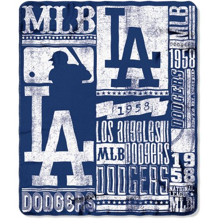 "MLB Los Angeles Dodgers 50"" x 60"" Fleece Throw"