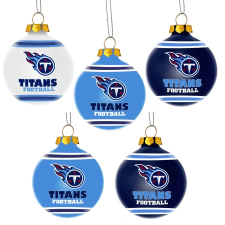 Forever Collectibles NFL 5-Pack Shatterproof Ball Ornaments - Tennessee Titans