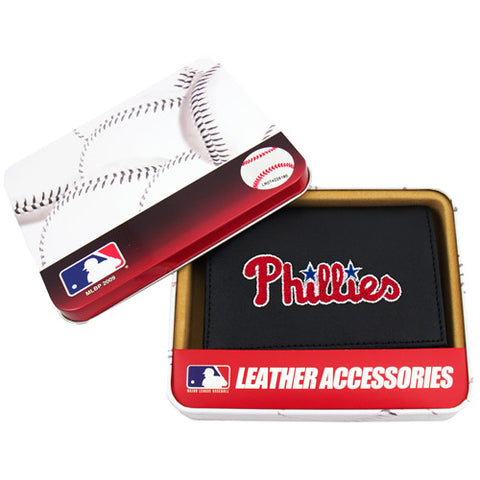 MLB Men's Philadelphia Phillies Embroidered Trifold Wallet