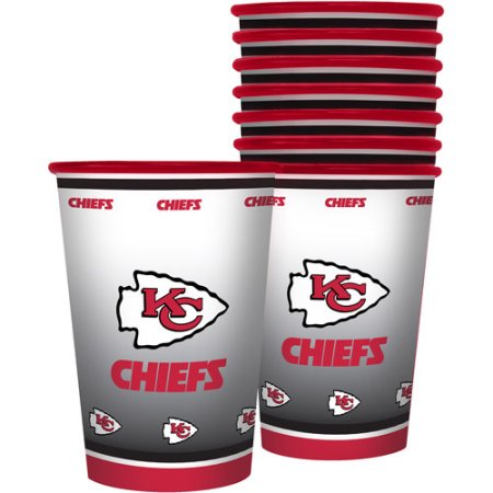 NFL 20 oz Kansas City Chiefs Plastic Souvenir Cups, 8pk